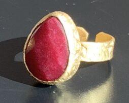 ring verguld robijn