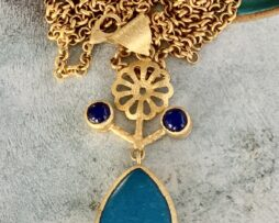 blauw agaat ketting