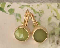 groen agaat oorbellen