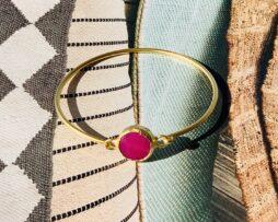 bracelet pink agath